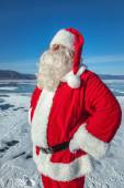 Noel baba açık havada portresi — Stok fotoğraf