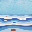 Children's slide in the pool water park, view from above — Stock Photo #68356735