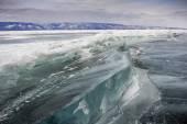 Frozen baikal lake in winter — Stock Photo
