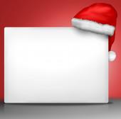 Noel beyaz boş tahta işaret — Stok fotoğraf