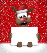 Christmas white blank board sign — Stock Photo