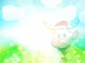 Оленей Рождественский счастливый милый мультфильм — Стоковое фото