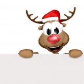 Christmas Reindeer Cartoon — Stock Photo