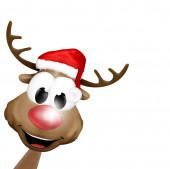 Happy christmas reindeer — Stock Photo