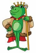 Frog King — Stock Vector