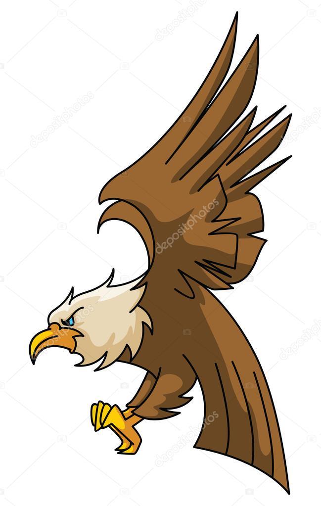 鹰卡通插图