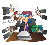 Multy Stress Businessman — Stock Vector