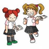 Kid School Score Examination — Stock Vector
