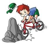 Bicycle accidents — Vetor de Stock