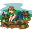 Farmer Gardener — Stock Vector #59340883