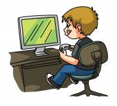Gamer Boy — Vetor de Stock