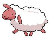 забавный мультфильм овец — Cтоковый вектор