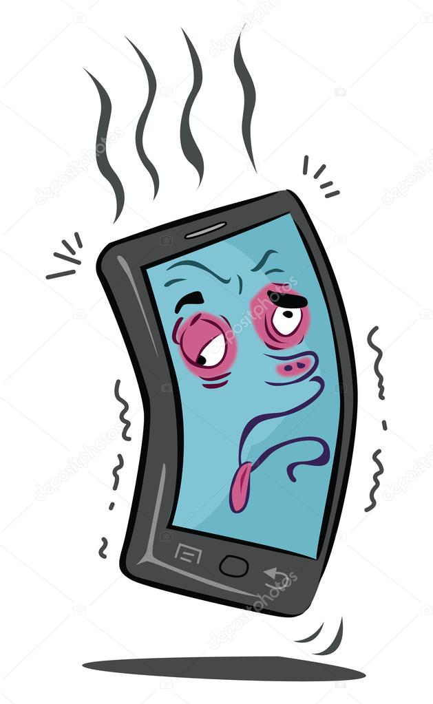Sick mobile phone — Stock Vector © indomercy2012 #71990203