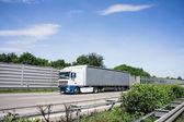 Truck on German Autobahn, Highway — Stock Photo