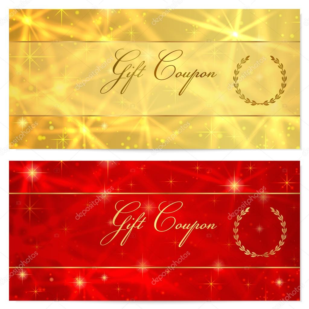 Gift certificate Voucher Coupon Reward or Gift card template – Voucher Card Template