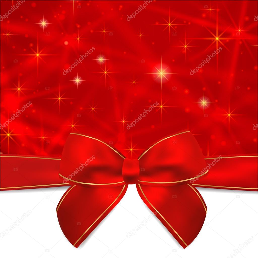 holiday card christmas card birthday card gift card greeting holiday card christmas card birthday card gift greeting card template red bow ribbon present sparkling twinkling stars