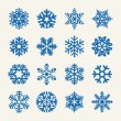 flocons de neige vector collection — Vecteur #55461745