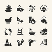 Spa icons set, stock vector — Stock Vector