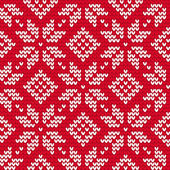 Christmas knitted seamless pattern — Stock Vector
