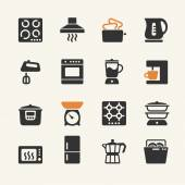 Household appliances for the kitchen. Web icons collection — Stock Vector