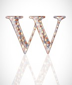 Abstract letter W. — Wektor stockowy