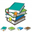 Stack of books — Stock Vector #66939623