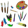 Set of items for drawing — Stock Vector #67815393