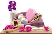 Basket of products for cellulite — Stock Photo
