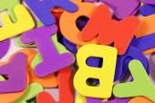 Background with scrambled letters — Stock Photo