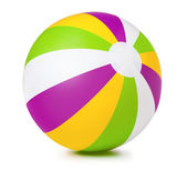 Colored inflatable beach ball — Stock Photo