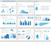 Su infographics. bilgi grafiği. — Stok Vektör