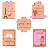 Vector collection of valentines day design — Stock Vector