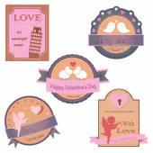 Vector collection of valentines day design — Vetor de Stock