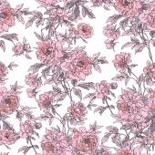 Seamless peonies pattern — Stock Vector