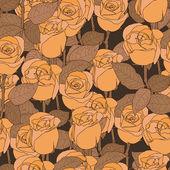 Roses flowers pattern — Stock Vector