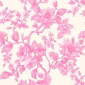 Spring garden flowers pattern — Stock Vector