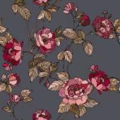Seamless flowers pattern — Stock Vector