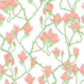 Seamless pattern with apple flowers — Stockvector
