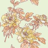 Seamless pattern with flowers roses — Stock Vector