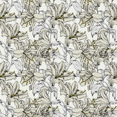 Seamless pattern with flowers lily — Stock vektor