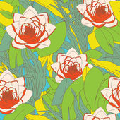 Bezešvé vzor s květy lilie — Stock vektor