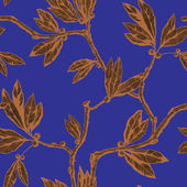 Seamless pattern with leaf ornament — Vetorial Stock