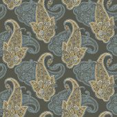 Seamless pattern with ornament, vector floral illustration — Wektor stockowy