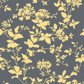 Seamless pattern with ornament, vector floral illustration — ストックベクタ