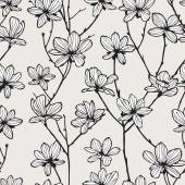 Apple flowers Seamless texture — Stock Vector
