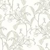 Seamless pattern with flowers orchids — Stock Vector