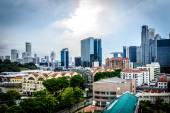 Singapore Raffles Place skyline — Stock Photo
