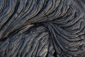 Black lava flow — Stock Photo