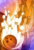 Bowling arka plan — Stok fotoğraf