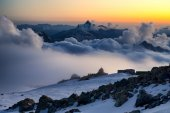 Mountains in clouds — Foto de Stock